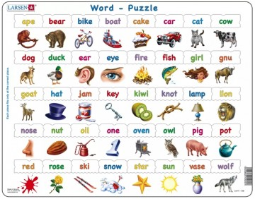 Puslespill Learning Words
