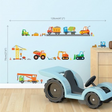 Wallsticker Byggeplass