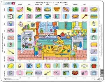 Puslespill Learning words: Kitchen