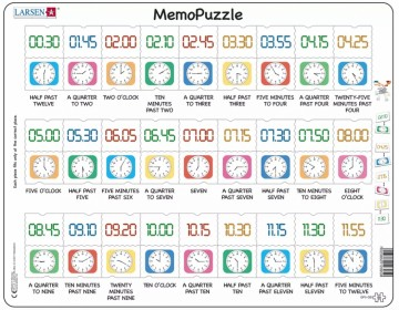 MemoPuzzle Clock - puzzle and memorygame