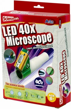Science Crafts LED 40x Mikroskop byggesett