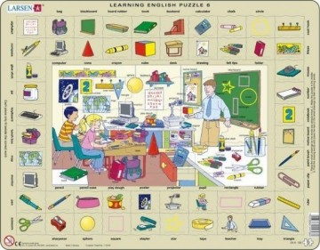 Puslespill Learning words: Classroom